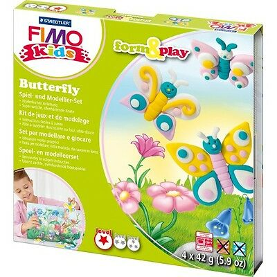 Fimo Kits For Kids Gift Form & Play Polymer Modelling Oven Bake Clay BUTTERFLY