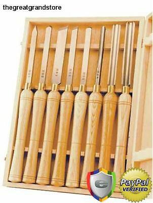 Wood Lathe Chisel Set Woodworking Turning Tools Gouge Parting Project Work Kit