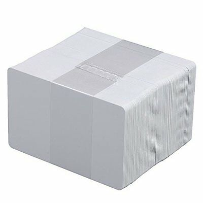50 PVC Cards Blank White - CR80 .30 Mil, Credit Card size, ID Printer
