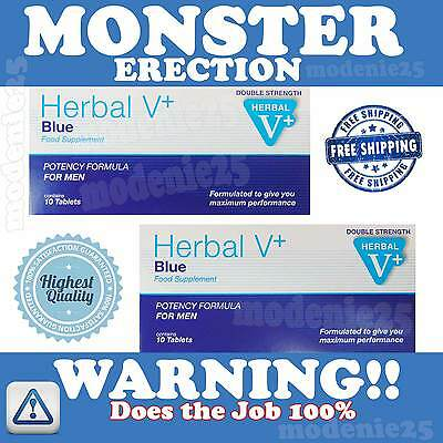 Herbal Blue Sex Tabs Supplement For Men Double Strength VERY STRONG Free Postage