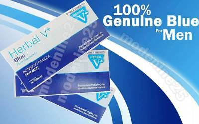Herbal Blue Sex Male Tabs Genuine Strong Supplement High Strength to GET HARD