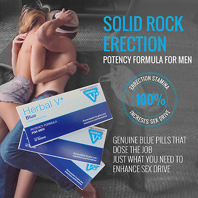 Herbal Blue Sex Double Strength Tabs Supplement Maximum power For Men ROCK HARD