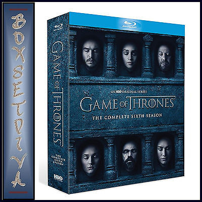 Game Of Thrones - Complete Season 6 **Brand New Bluray Region Free **