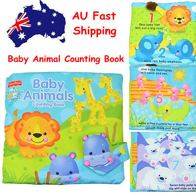 Animal counting book Baby Toddler Interactive Education Soft Cloth Book