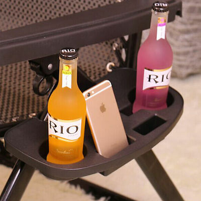 Zero Gravity Lounge Chair Cup Holders w/ Mobile Device Slot and Snack tray 2pcs