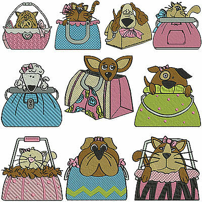 * PURSE PETS * Machine Embroidery Patterns * 10 Designs in 3 Sizes