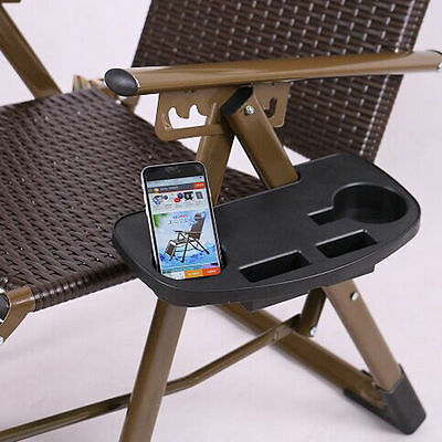 Zero Gravity Lounge Chair Cup Holders w/ Mobile Device Slot and Snack tray 1PC