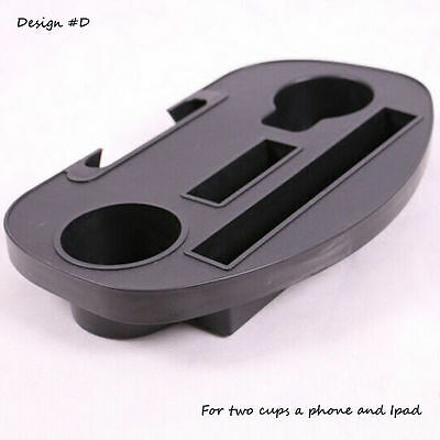 2x Zero Gravity Lounge Chair Cup Holders w/ Mobile Device Book Slot & Snack Tray