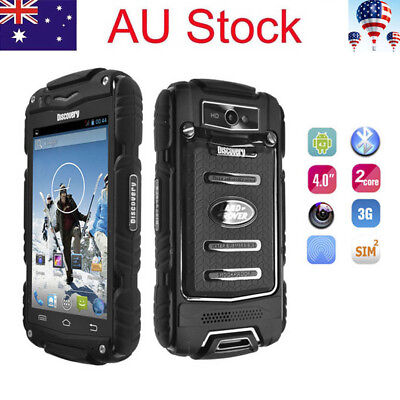 Rugged 3G Android Smartphone Dual Core 4.0 Inch Discovery V8 Cell Phone Outdoor