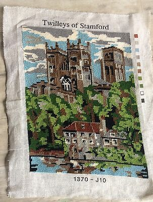 VTG Retro Fab Completed Tapestry Durham Cathedral Twilleys Of Stamford