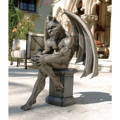 Design Toscano Socrates The Gargoyle Thinker Statue. Free Delivery