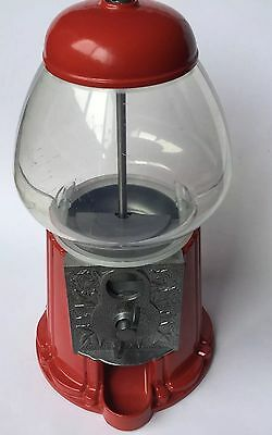 Vintage Retro Look Gumball Machine Metal Plastic Dome 10c Coin Operated Working