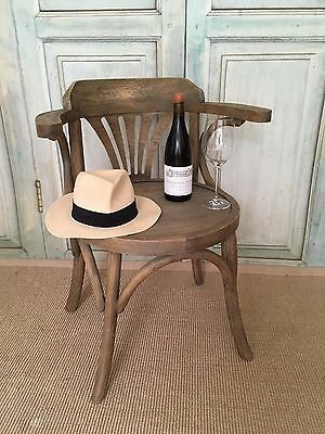 Vintage Limed Bentwood Captain Style Chair