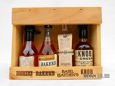 Jim Beam Small Batch Miniature Set In Timber Cabinet -Features Round Knob Creek!