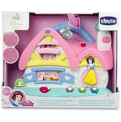 Chicco Snow White and & 7 Dwarfs Musical Cottage, Disney Princess Gift Toy Set