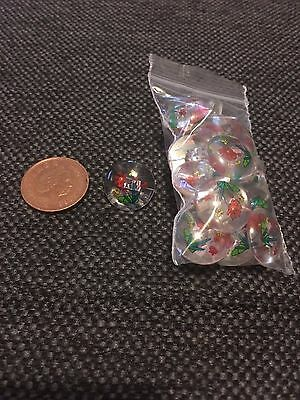 Cute clear ditsy floral flower buttons x10 BNIB - craft - Christmas stocking