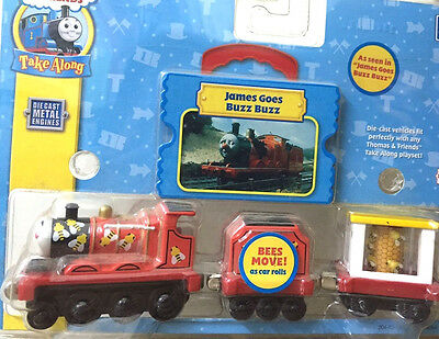 Take Along Take N Play Thomas & Friends James Goes Buzz Buzz Rare Retired Die-Ca