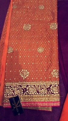 Indian Pakistani Heavy Kundan Embroidary Unstitched Suit (SPECIAL OFFER)