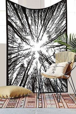 Twin Dry Tree Tapestry Indian Wall Hanging Hippie Urban Tapestry Bedspread Art