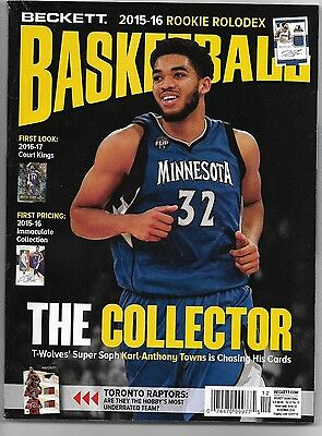 Beckett Basketball Monthly Dec 2016  The Collector  Karl-Anthony Towns:t-Wolves