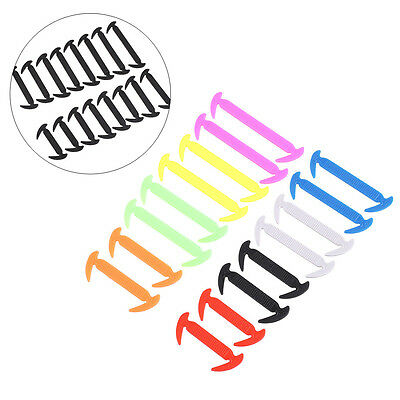 16pcs Easy No Tie Elastic Silicone Shoe Lace Sneakers Adult Child Shoelaces