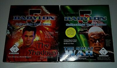 Babylon 5 ccg great war & shadows boxes plus opposition deck and 3x psi corp