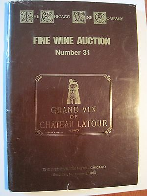 Vintage Fine Wines Auction Catalogs (4) From The 1980's