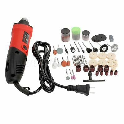 400W Mini Electric Drill with Accessorise Brass/Nylon Brushes Burrs Bits Saw Set