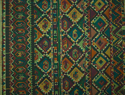 vintage 1980s Collier Cambell Kasbah Moroccan screenprint cotton fabric