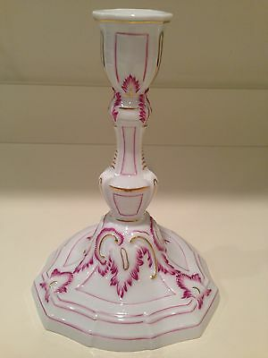 Hochst Hand-Painted Porcelain 250th Anniversary Candleholder Made Germany New