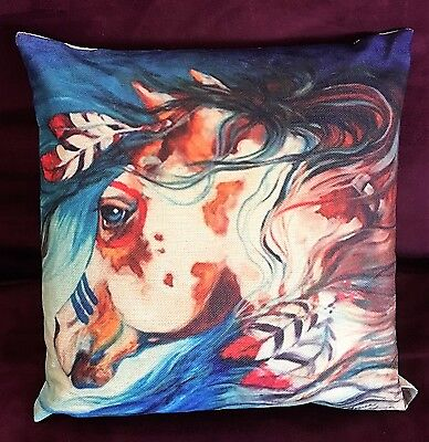 "GORGEOUS Marcia Baldwin Cotton Linen ""The Drifter"" Indian War Horse Pillow"