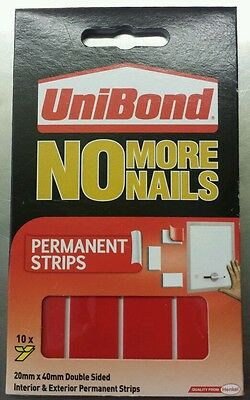 Unibond No More Nails Permanent Strips Pack Of 10 - RED
