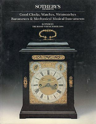 1994 Sotheby's - Good Clocks, Watches, Wristwatches, and Barometers - London