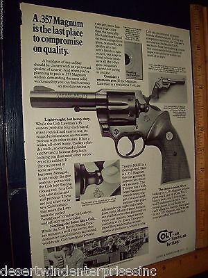 Colt A .357 Magnum Printed Ad From Guns & Ammo May1977