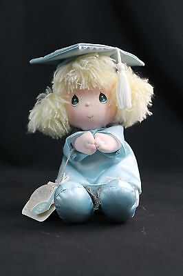 """Precious Moments """"Sally""""  Graduation Doll Cloth by Applause 8"""" w/music"""