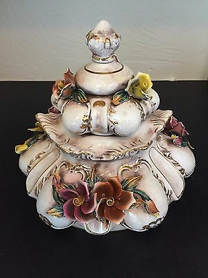 Vintage Capodimonte Replacement Ceramic Primary Chandelier Floral Body