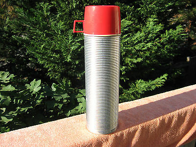 Vintage King Seeley Ribbed Aluminum Thermos Bottle #2484