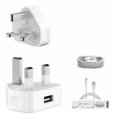 Genuine Apple Wall Charger Plug & lightning  USB Cable for iPhone 6 6 Plus 5 5C