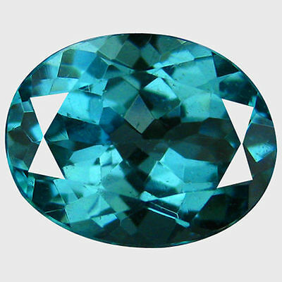 1.450Cts Wonderful Top Luster Neon Blue Natural Apatite Oval Loose Gemstones