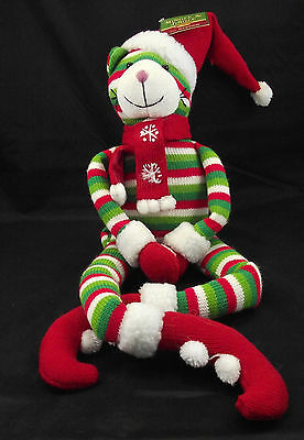 "Jingle the Santa Christmas Cat 30"" Plush"