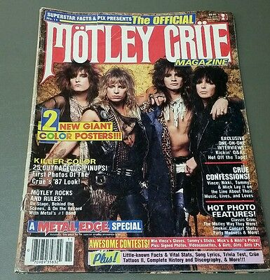 Mötley Crüe Magazine Issue No. 11 1987 Metal Edge Special Free Shipping