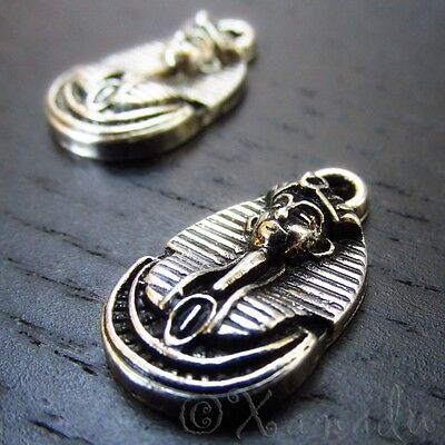 Egyptian Pharaoh Wholesale Antiqued Silver Plated Charms C9317 - 5, 10, 20PCs