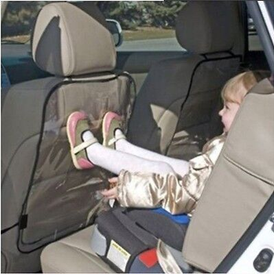 1X Transparent Car Seat Cover Back Protect Kids Kick Mat Protect From Mud Dirt