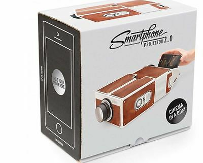New DIY Cardboard Smartphone Projector For Universal Phone Home Theater