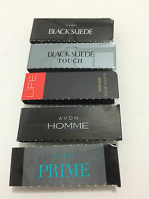 Avon Mixed Mens Cologne/Perfume Samples x 5