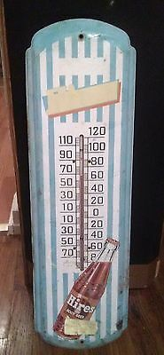 Vintage 1940 s ORIGINAL Hires Root Beer Advertising Thermometer Sign