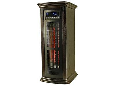 LifeSmart LS-REC-LT Infrared Wood Tower Large Room Heater