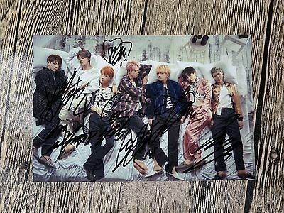 BTS  Autographed WINGS  signed Group Photo New Korean  freeshiping  10.2016 02