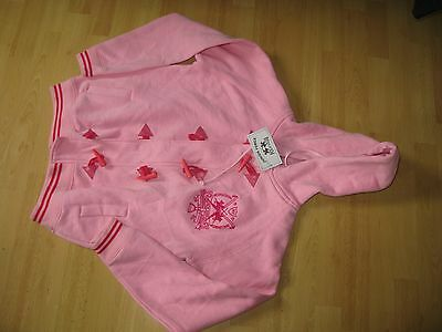 JUNIOR FORCE BNWT pink large buttons hoodie jumper 11 - 12 years