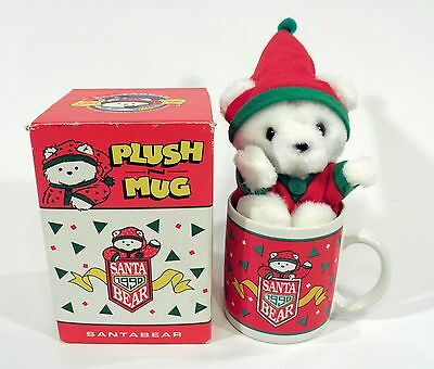 Santa Bear Dayton Hudson 1990 Christmas Mug & Plush in Box